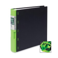 "Recyclable Binder, 2"" Capacity, 11""x8-1/2"", Black/Green"