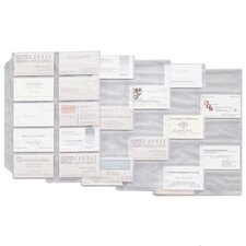 Business Card Refill Pages, 20 Cards/Sheet (10/Pack)