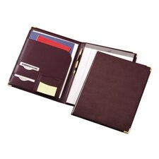 Pad Holder,w/ Writing Pad, Letter, Document Pocket, Burgundy