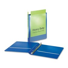 "Heavy-Duty Round-Ring Vue Binders, Heavy-Duty, 5/8"" Capacity, Blue"