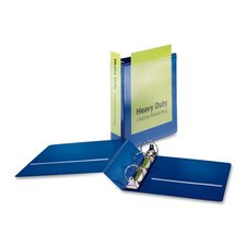 "Heavy-Duty Round-Ring Vue Binders, Heavy-Duty, 2"" Capacity, Blue"