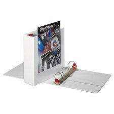 "Clearvue Locking D-Ring Binder, 11""x8-1/2"", White, 3"" Capacity"