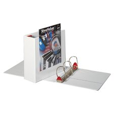 "Clearvue Locking D-Ring Binder, 11""x8-1/2"", White, 4"" Capacity"