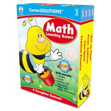 <strong>Carson-Dellosa Publishing</strong> Math Learning Games, 4 Game Boards, 2-4 Players, Grade 2