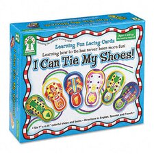 <strong>Carson-Dellosa Publishing</strong> I Can Tie My Shoes! Lacing Cards, Ages 4 and Up
