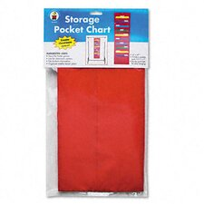 Storage Pocket Chart with 10 Pockets, Hanger Grommets