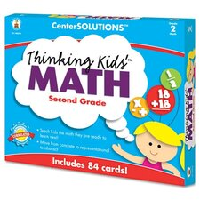 CenterSOLUTIONS Thinking Kids Math Cards, Grade 2 Level