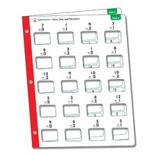 Math Windows, SUbtraction, 5 Write-On/Wipe-Away Cards