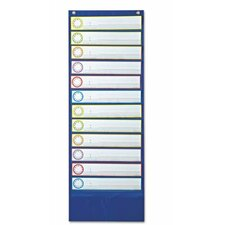 Deluxe Scheduling Pocket Chart, 12 Pockets