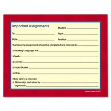 Important Assignments Booklet