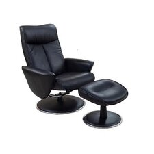 Swivel Recliner and Ottoman