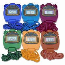 <strong>Champion Sports</strong> Water-Resistant Stopwatches, 1/100 Second (Set of 6)