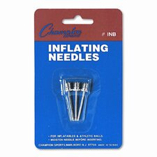 Nickel-Plated Inflating Needles for Electric Inflating Pump, 3 Needles/Pack