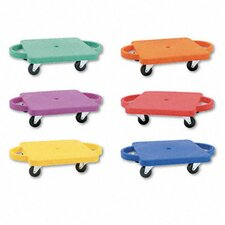 Scooter Set Wswivel Casters, Plastic/Rubber (Set of 6)