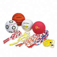 Physical Education Kit with Seven Balls, 14 Jump Ropes