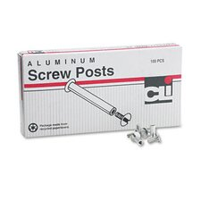 "Post Binder Aluminum Screw Posts, 0.18"" x 0.5"", 100/Box"
