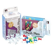 <strong>Charles Leonard Co.</strong> Push Pins Clear