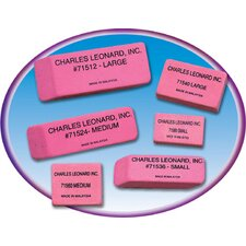 36/bx Pink Economy Wedge Erasers