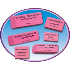 24/bx Pink Economy Wedge Erasers