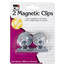 "1.25"" Magnetic Spring Clip 2 Count"