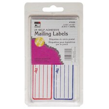 "0.62"" x 2.75"" Self Adhesive Mailing Label 25 Count"