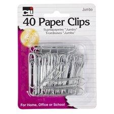 Jumbo Paper Clip 40 Count