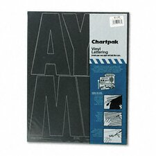 <strong>Higgins</strong> Chartpak Press-On Vinyl Uppercase Letters, Self Adhesive, 38/Pack