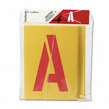 Chartpak Painting Stencil, A-Z Set (Set of 26)