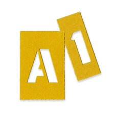 "<strong>Higgins</strong> Painting Stencil Numbers/Letters, 1"", Yellow"