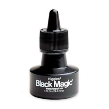 Higgins Black Magic Waterproof India Ink, 1 oz, Black