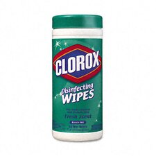 <strong>Clorox Company</strong> Fresh Scent Disinfecting Wet Wipes, Cloth, 75/Canister, 6/Carton