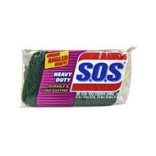 "S.O.S. 9"" H x 2.5"" W Heavy Duty Scrubber Sponge (Set of 12)"