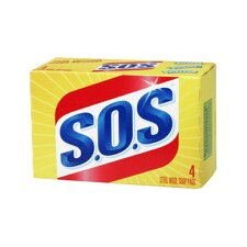 S.O.S Steel Wool Soap Pad (Set of 4)