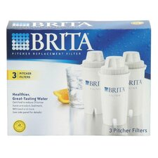 Water Filter for Brita Pitchers (Set of 3)