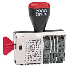 Cosco 2000 Plus Dial-N-Stamp, 12 Phrases