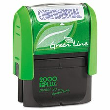 2000 Plus Green Line Self-Inking Message Stamp