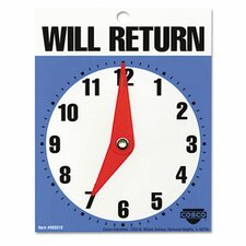 Will Return Later Sign in Blue