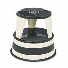 <strong>Cramer Industries, Inc.</strong> Original Kik-Step Steel Step Stool, 15-5/8 dia. x 14h, 500lb Capacity, Beige