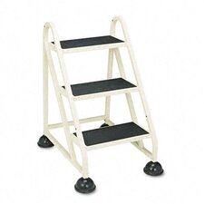 <strong>Cramer Industries, Inc.</strong> Stop-Step Three-Step Aluminum Ladder, 21-3/8w x 27-1/4d x 31-3/4, Beige
