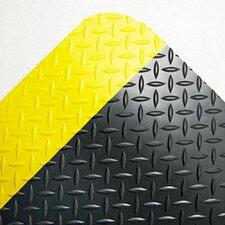 "Industrial Deck Plate Anti-Fatigue Mat, Vinyl, 36"" x 60"""