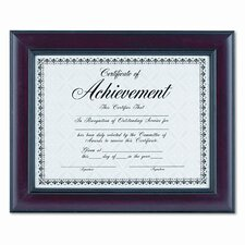Rosewood Document Wood Frame, Wall-Mount
