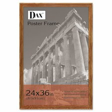 Plastic Poster Frame, Traditional with clear plastic window, 24 x 36, Medium Oak