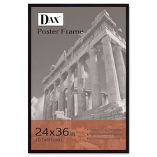 Flat Face Wood Poster Frame with clear plastic window, 24 x 36, Black