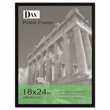 Flat Face Wood Poster Frame with clear plastic window, 18 x 24, Black