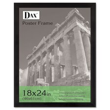 <strong>DAX®</strong> Black Plastic Poster Frame with Plexiglas Window, Wide Profile, 18 x 24