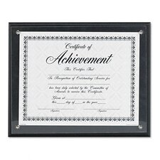 Award Plaque, Wood/Acrylic Frame, fits up to 8-1/2 x 11, Black