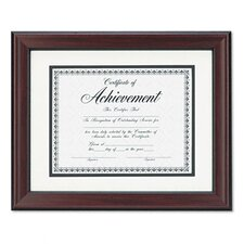 Rosewood Document Wood Frame Wall-Mount