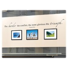 The Harder the Conflict, the More Glorious the Triumph Wall Decal and Picture Frames