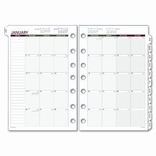 <strong>Day Runner</strong> Express Monthly Planning Pages Refill, 5-1/2 x 8-1/2, 2014