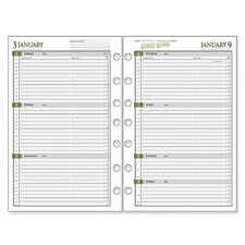 "Weekly Dated Calendar Refill,F/Pro Buss Sys,5-1/2""x8-1/2"", 2013"